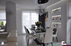 Jadalnia styl Glamour Jadalnia - zdjęcie od CUBE Interior Design