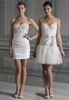 Short and Tea Length Wedding Dresses : Monique Lhuillier Wedding Dresses Spring 2012 Bridal Collection