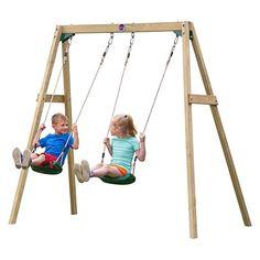 Plum Double Swing Set