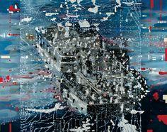 John Cattapan, Imagine a raft 2003 oil on linen, private collection, Brisbane Hybrid Art, Year 7, Magazine Art, Medium Art, Contemporary Paintings, Rafting, City Photo, Digital Art, Art Prints