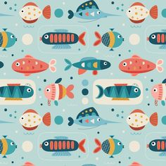 Fishes . . #illustration #drawing #textiledesign #textilepattern #patterndesign #artlicensing #fabric #fabricdesign #fabricpattern…