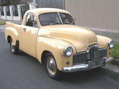 The Holden 50-2106 utility launched in 1951, three years after the 48-215 sedan.