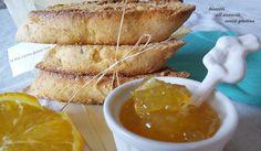 Biscotti senza glutine all'arancia