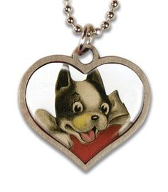 We carry these necklaces in our shop here in Maine. This is my favorite (since, you know, I have two and a half Bostons!)...