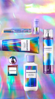 Bath N Body Works, Bath And Body Works Perfume, Holographic Makeup, Perfume Body Spray, Makeup Package, Perfume Packaging, Body Mist, Body Lotions, Smell Good