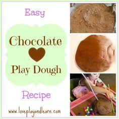Simple Chocolate Play Dough Recipe