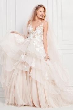 Wtoo by Watters style Montgomery A sexy illusion embroidered bodice? A layer-upon-layer embroidered skirt? You may have imagined your fantasy wedding gown, but we just made it a reality. Valera bridal gown by Wtoo Wtoo Bridal, Bridal Wedding Dresses, Dream Wedding Dresses, Designer Wedding Dresses, Bridesmaid Dresses, Tulle Ballgown Wedding Dress, Vows Bridal, Blush Bridal, Tulle Wedding