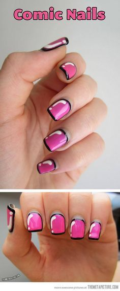 Comic Nails... - The Meta Picture