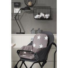 Coussin chaise haute Little star étoile sable  par Jollein