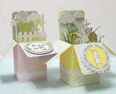 """Galeria Papieru - składane pudełko """"card in box"""" krok po kroku"""