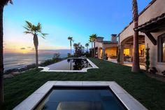 50 foot infinity-edge pool and hot tub in the backyard .. Malibu, California