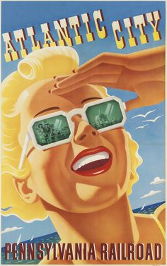 20x30 1920s Southern Pacific Railroad Great Salt Lake Vintage Travel Poster