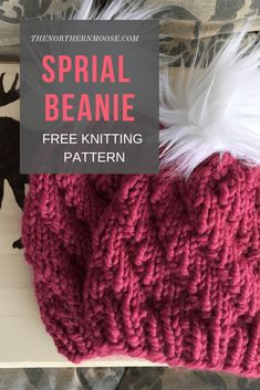 Newest Pic chunky Yarn knitting Popular Free knitted hat pattern: spiral beanie. Easy to make, beginner friendly. Beanie Knitting Patterns Free, Beanie Pattern Free, Beginner Knitting Patterns, Easy Knitting Projects, Knitting Kits, Free Knitting, Knit Headband Pattern, Free Pattern, Chunky Hat Pattern