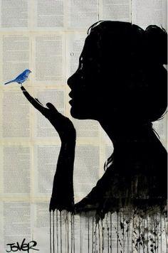 Femme au colibri