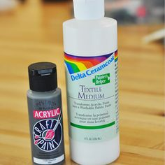 When painting fabric, just use any color of regular acrylic paint PLUS textile medium.