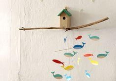 Vom Fischer und seinen Fischen -  Fisch-Mobile