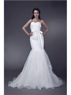 Fancy Mermaid Trumpet Sweetheart Sleeveless Velerias Wedding Dresses
