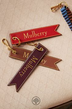 Shop the Mulberry Leather Tab Keyring at Mulberry.com. Take Mulberry wherever you go with this simple leather tab keyring featuring the typographic Mulberry logo.