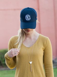 Wool Blend Monogram Hat