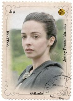 Outlander/Jenny stamp. See more at www.redbubble.com by Sassenach616.