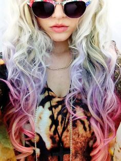 PASTEL OMBRE HAIR // Full Head Set // 20 by UnicornHairBoutique, $225.00