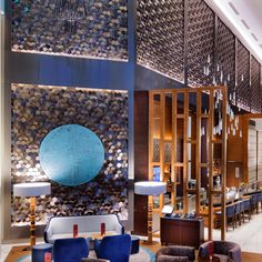 Wall design of hilton hotel , interior design , 3d tiles , 3dwall panel , surface pattern. www.3dwall.com.tr