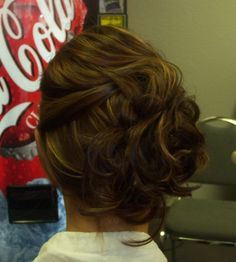 bridesmaid wedding hair