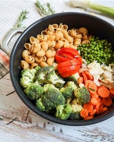 One Pot Pasta Fall Vegetables Recipe Ma Healthy Tendency Healthy Pasta Salad, Healthy Pastas, Healthy Salad Recipes, Vegetarian Pasta Recipes, Pasta Salad Recipes, Vegetable Recipes, Pasta Primavera, One Pot Pasta, Menu