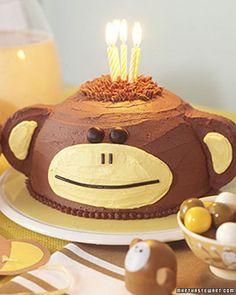monkey sock monkeys, monkey cakes, first birthdays, kid birthdays, frosting recipes, 1st birthdays, buttercream frosting, cake recipes, first birthday cakes