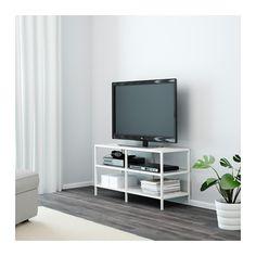 VITTSJÖ Tv-meubel - wit/glas - IKEA