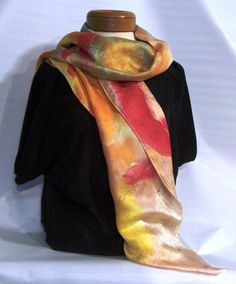 """one of my """"anger scarves"""" energy turned into movement"""