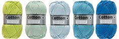 Cotton 4 par Lammy Yarns Pelotte de Laine - Différents coloris