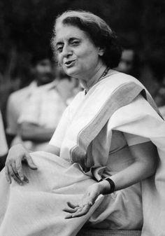Portrait of the Indian stateswoman Indira Gandhi. MONDADORI PORTFOLIO