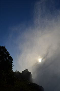 Vic Falls spraying clouds to blot out the sun