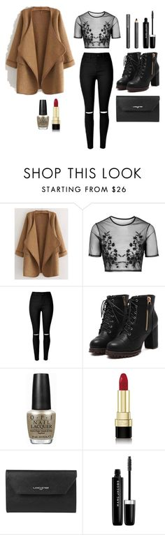 """""""New York City Traffic Lights"""" by tribekahjordan on Polyvore featuring WithChic, Topshop, OPI, Dolce&Gabbana, Lancaster, Marc Jacobs, Burberry, women's clothing, women and female"""
