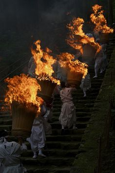 Nachi-no-Hi-Matsuri, one of the three largest fire festivals of Japan, is staged in the Kumano mountains of Wakayama