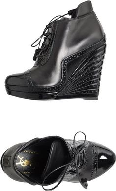 Yves Saint Laurent Rive Gauche Black Wedge