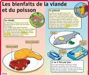 Les bienfaits de la viande et du poisson - Le Petit Quotidien, le seul site d'information quotidienne pour les 6 - 10 ans !
