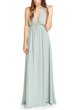 Main Image - Show Me Your Mumu Luna Halter Gown