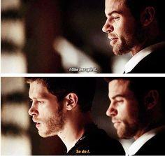 The Originals. Klaus and Elijah