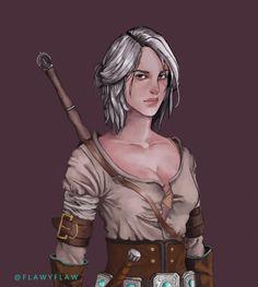 Ciri Witcher 3 by flawyflaw