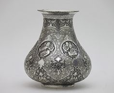 Antique Persian Silver plated -Iranian Art