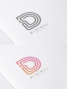 Minimale Linie Anfangsbuchstabe D Logo d logo - Brand Logos Monogram Logo, Initials Logo, Two Letter Logo, Initial Letters, Logistics Logo, Data Logo, Typographie Logo, Logo Line, Logo Branding