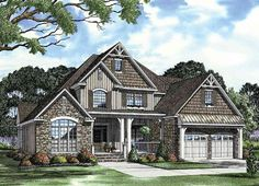 Unique Inviting House Plan - 59657ND | Architectural Designs - House Plans