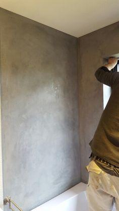Akzentwand mit volimea marmorputz in braunschweig von kera for Marmorputz badezimmer
