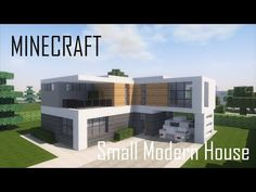 Modern home design Minecraft Small Modern House, Minecraft Modern House Blueprints, Minecraft Modern City, Easy Minecraft Houses, Minecraft Plans, Minecraft House Designs, Minecraft Architecture, Minecraft Creations, Minecraft Projects