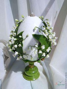 """Купить Большое сувенирное яйцо """"Ландыши"""". - Пасха, подарки к праздникам, сувениры, пасхальное яйцо"""