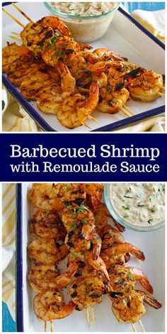 10 Most Misleading Foods That We Imagined Were Being Nutritious! Barbecued Shrimp With Remoulade Sauce Recipe From Via Recipegirl Grilling Recipes, Fish Recipes, Seafood Recipes, Dinner Recipes, Cooking Recipes, Ww Recipes, Dinner Ideas, Barbecue Shrimp, Grilling Shrimp