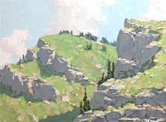 "Daily Paintworks - ""Rocky Rocks"" - Original Fine Art for Sale - © Michko Wrye"