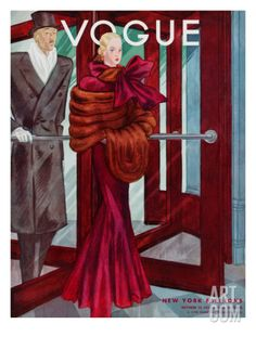 Vogue Cover - October 1933 Regular Giclee Print by Georges Lepape at Art.com